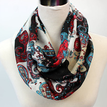 2017 new fashion scarf women Bandanna Chiffon silk flowers Ring red Black scaves Autumn summer Shawl hijabs Neck Warmers 60*150
