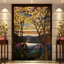 Church windows and doors mosaic art glass film Xuan Kwong cut off the color window European-style stained glass ceiling custom(China)