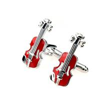 Fashion Jewelry Men's Suit Shirt Violin Cufflinks Cuff Links Wedding Favor Free Shipping
