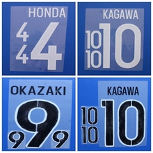 New Japan KAGAWA OKAZAKI HONDA football number name font print, Hot stamping Soccer patches badges