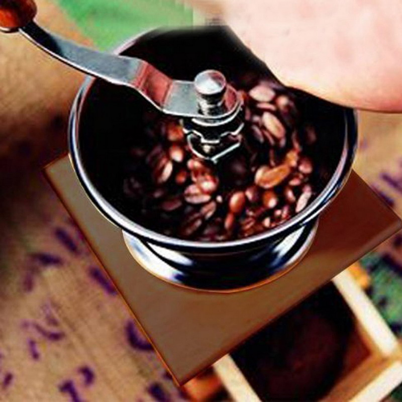 Healthy Life Portable Coffee Machine Stainless Steel Hand Crank Manual Coffee Grinder for Pepper Spices Salt Mill VES34 T15 0.4<br><br>Aliexpress