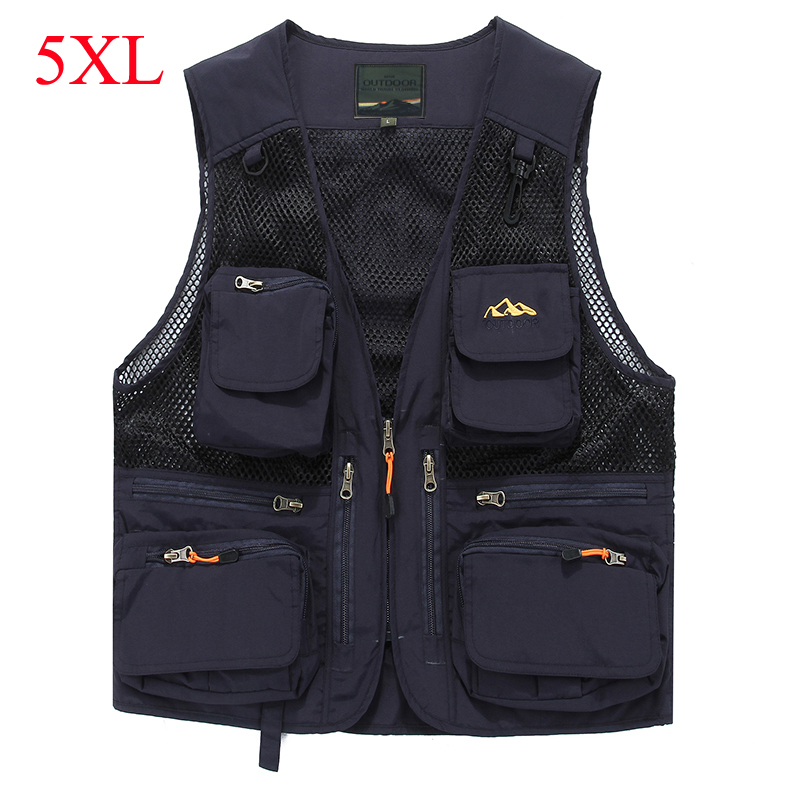 AFS JEEP Military tactical mesh vest men breathable photographer multi pockets vest waistcoat colete masculino mens outwear