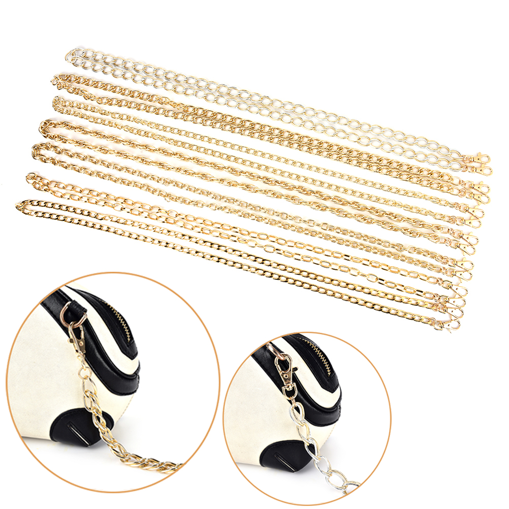1PC Length 120cm Purse Replacement Handbags Bags Handle PU Strap Chain bag strap bag handle bag hardware 7Styels