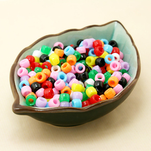 500pcs/lot 6x4mm random Mixed Assorted Bright Colours Acrylic Loose Spacer barrel DIY Beads for child DIY Necklace Bracelet