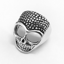 Europe and the United States Retro Personality Skull Head Rings Domineering Men Woman Ring Finger Ring Fashion Gift Wholesale