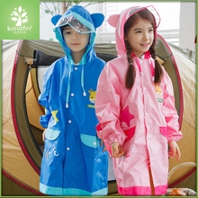 2-10 Years Old Children Candy Color Raincoat for Kids Camp Rain Poncho Suit for Height 95-150cm Boy Girl Students Go To School