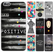 Graphic head text Hard Case Transparent Cover for Huawei P6 7 P8 P9 P10 Lite Plus Honor 8 Lite 4C 4X G7
