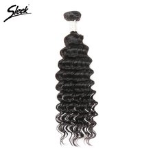 Sleek 8A Deep Wave Brazilian Hair Weave Bundles Deal Remy Human Hair Extensions Weft Deep Curly 1 Piece Tissage Bresilienne