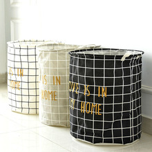 New diablement fort Dirty clothes bucket large folding storage Basket waterproof storage box organizer Clothes storing container(China)