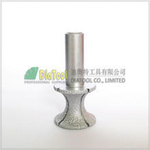 "No.22 Small X type Vacuum Brazed diamond router bits with 1/2"" shank for stone,  Router cutter for granite & marble"