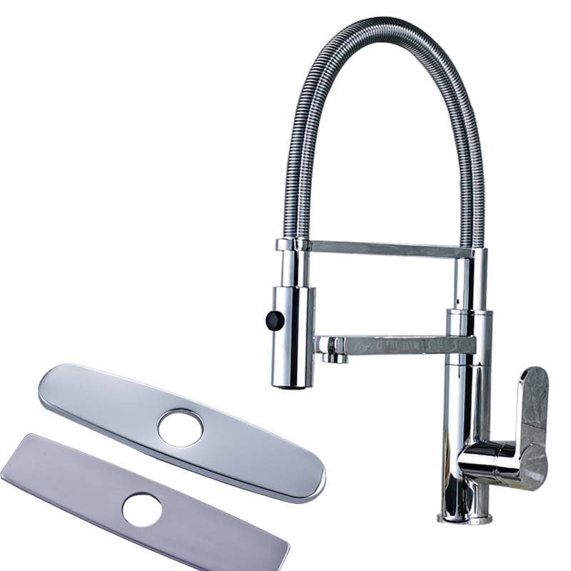 Luxury Design Single Lever Kitchen Sink Faucet Dual Spout with Bracket Deck Mounted Chrome Kitchen Hot and Cold Water Taps<br><br>Aliexpress