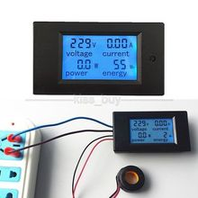AC 100A Power Meters Monitor Volt Amp kWh Watt Digital Combo Meter AC110V 220V Voltmeter Ammeter + CT Shunt(China)