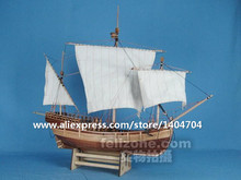 Italian Classic wooden sail boat scale 1/50 Columbus Trade merchant Pinta ship wooden Model kits(China)