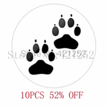 Panther Paw glass Art Pendant unmetal picture Pendant Photo Handcrafted necklace keyring bookmark cufflink  earring