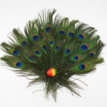 2017 Hot Sale 20pcs Beautiful Wholesale Beauty Natural Peacock Tail Eyes Feather 8-12'' Long Bouquet Millinery Wholesale