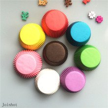 Promotion 100 pcs/lot Mix Color Paper Cupcake Liners Cupcake wrappers Muffin Cases Cake Cooking Cups