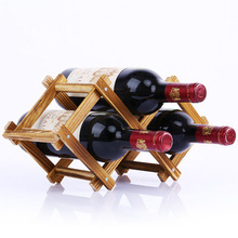 New Solid Wood Pine Wood Wine Rack Wooden Wine Rack Creative Ornaments Multi-fold Character Bottled Ornaments(China)