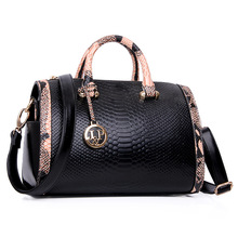 2016 ladies fashion women leather bag Shoulder or Handbags Casual valentine bags with Serpentine candy color leather bags(China)