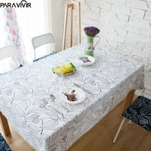 2017 New Arrival Table Cloth Printed Leaves High Quality Dinner Tablecloth Wedding Decoration Table Cover Cotton toalha de mesa
