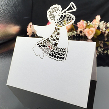 120PC/lot White Laser Cut Vine Flower Kids Party Table Name Place Cards Casamento Souvenirs Birthday Wedding Invitations Decor