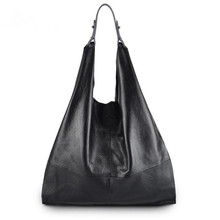 Real Genuine Leather Bag Casual Hobo Soft Skin Cowhide Tote Bags Leisure Large Luxury Handbags Women Bags Designer(China)