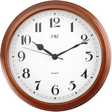 14 Inch Classic Mahogany Large Number Silent Non-ticking Home Decorative Analog Wood Battery Operated Wall Clock Arabic Numberal(China)