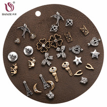 Buy DANZE 12 Pairs/lot Vintage Rhinestone Stud Earrings Set Women Punk Lovely Charms Collection Ear Studs Animal Brincos Jewelry for $3.81 in AliExpress store
