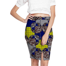 Elegant Front Kick Pleat Womens African Tight Buttocks Skirt Colorful African Print Element Dashiki Clothing Tailor Custom(China)