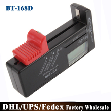 (Wholesale) 100pcs/lot Rechargeable AAA AA C D Battery Tester BT-168D 1.5V 9V