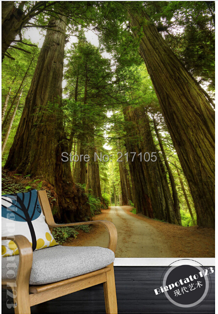 Custom photo wallpaper, forest for the living room TV backdrop of vinyl wallpaper Papel de parede<br>