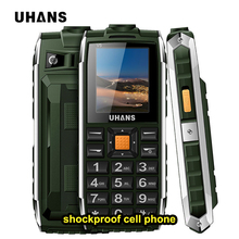 Uhans V5 Waterproof shockproof Rugged Mobile phone Russian keypad GSM power bank Big box speaker Flashlight Dual sim Cell phone(China)