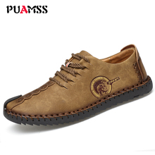 2017 New Summer Breathable Men Shoes Men Casual Shoes Leather Slip On Fashion Handmade Shoes Man Soft Comfortable(China)
