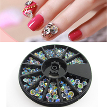 Transparent Crystal Rhinestone Glitter Bead Pearl Wheels Nail Art Jewelry DIY Nai Art Manicure Accessories Tool M03500