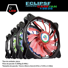 ALSEYE LED Fan for CPU Cooler / PC Case, 120mm Computer Fan DC 12v 1300RPM Cooling Fans 4 Color available