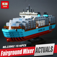 Lepin 22002 1518Pcs Technic Series The Maersk Cargo Container Ship Set 10241 Educational Building Blocks Bricks Model Toys Gift(China)