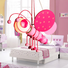 Cartoon Kid's Bedroom Bee Pink Blue Ceiling Pendant Lamp Babys Room Chandelier Fixtures chandelier