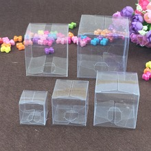 50PCS/Lot Square Plastic Clear PVC Boxes Transparent Waterproof Gift Box PVC Carry Cases Packaging Box For jewelry/Candy/toys(China)