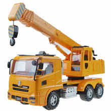 Children's large crane truck crane inertia Boy toy car kit(China)