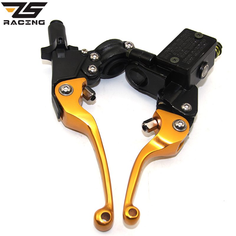 ZS Racing ASV 22mm CNC Folding Brake Lever Clutch Lever With Front Pump Fit Most Motorcycle Dirt Pit Bike Motorcross CRF KLX YZF<br>