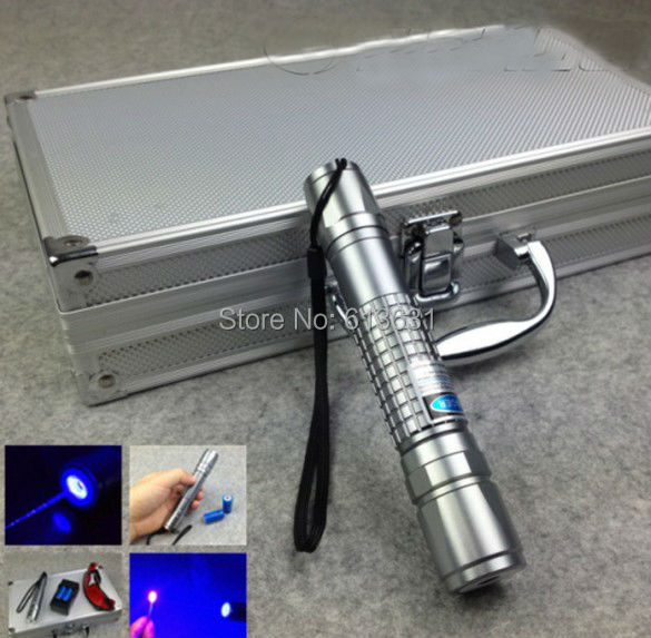 free shipping 50000mw 50w waterproof burning 450nm  blue laser pointer flashligh with focusable lens 5 star caps light fireworks<br><br>Aliexpress