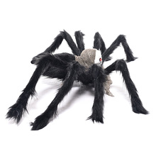 Black Spider Halloween Decoration Novelty Gag Toys Haunted House Prop Indoor Outdoor Wide NEW Practical Jokes(China)