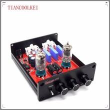 Buy zj-6j1 Mini 6J1 Vacuum Tube Preamp Preamplifier Stereo Treble Bass Tube Buffer Control Audio sound amplifier for $39.90 in AliExpress store