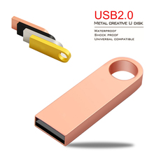 KING Ring USB Flash Drive 4GB/8GB/16GB/32GB Pen Drive Real Capacity 64gb Pendrive USB 2.0 Memory stick U disk(China)