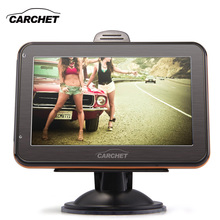 CARCHET Car GPS Navigation America Map RAM 128MB 4GB 4.3 Inch TFT Touch Screen GPS Navigation Canada USA Brazil Chile Mexico etc