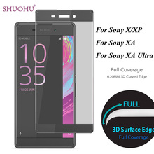 3D Curved Surface Full Screen Protector Tempered Glass For Sony Xperia X XP X Performance For Sony Xperia XA XA Ultra Glass