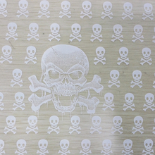 Free shipping TSAUTOP CS116 width 50cm 5Sqm white skull transparent base hydrographics transfer printing film