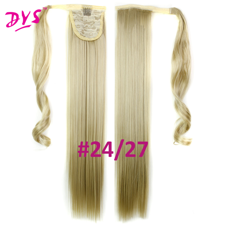 Deyngs 60cm Long Straight Clip In Hair Tail False Hair Ponytail Hairpiece With Hairpins Synthetic Hair Pony Tail Hair Extensions (13)