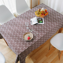 Canvas Table Cloth Cove rCoffee Vintage Floral  Home Hotel Cafe House Party Home Decro 9 size for choose