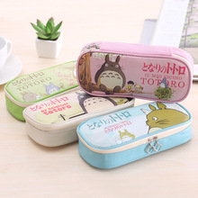 Buy 1 pcs Korean Creative Totoro Pencil case Pencil Box Pencil Bag Leather Kawaii Stationery Pouch Office School Supplies for $1.90 in AliExpress store