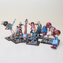 6-19cm One Piece Action Figures After 2 Years Luffy Zoro Sanji Usopp Brook Franky Nami Nico Chopper Sanji PVC figure toys(China)